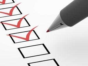 Protokolle: Checkliste
